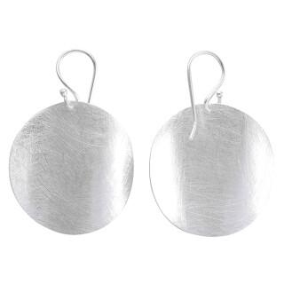Cadiz - Silber Ohrringe plain - gebürstet