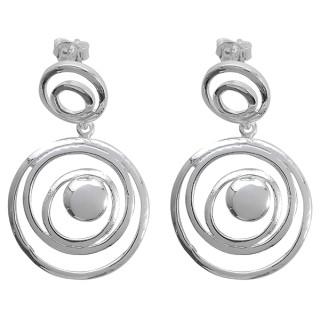 Sipalay - Silber Ohrringe plain - poliert