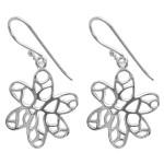 Sommerblume - Silber Ohrringe plain - mattiert