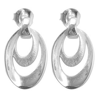 Victoria - Silber Ohrringe plain - gebürstet/poliert