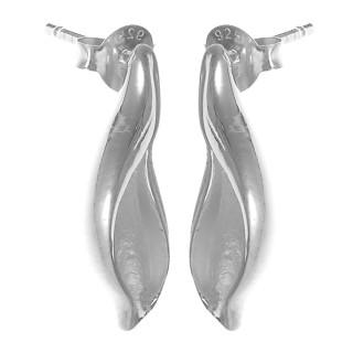 Luca - Silber Ohrringe plain - mattiert/poliert