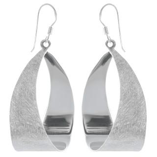 Lipa - Silber Ohrringe plain - gebürstet/poliert