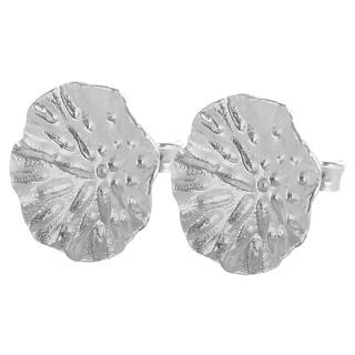 Ohring Blütenstaub - Silber Ohrstecker plain - poliert