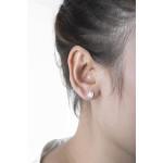 Rose - Silber Ohrstecker plain - poliert