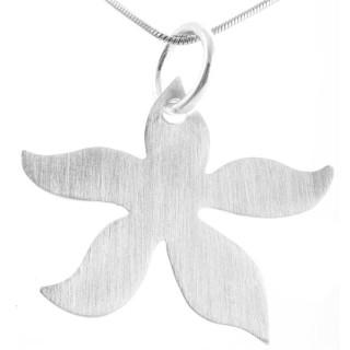 Blossom - Silber Anhänger plain - mattiert