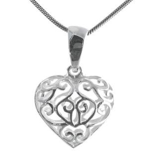 Herz geschlossen - Silber Anhänger plain - poliert