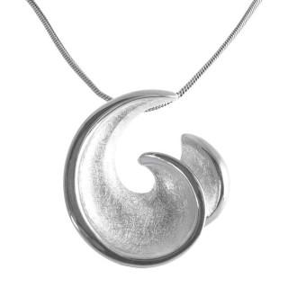 Edelweiss - Silber Anhänger plain - gebürstet/poliert