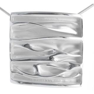 Scotch Thistle - Silber Anhänger plain - mattiert/poliert