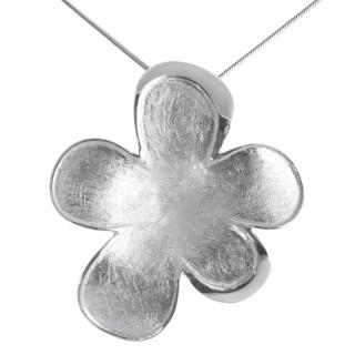 Blossom - Silber Anhänger plain - gebürstet/poliert