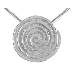 Dagger Log - Silber Anhänger plain - mattiert/poliert