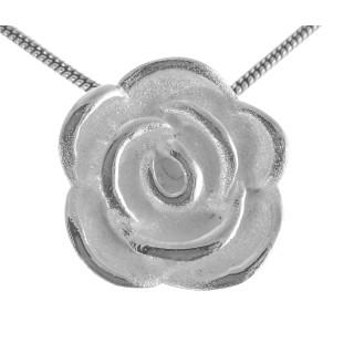 Rose - Silber Anhänger plain - poliert