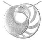 Mayo - Silber Anhänger plain - gebürstet/poliert