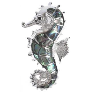 Seepferdchen - Silber Anhänger Perlmutt - poliert