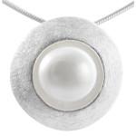 Erinus - Silber Perlenanhänger - gebürstet