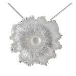 Jasione - Silber Perlenanhänger - poliert