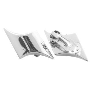 Arctotis - Silber Ohrclips - poliert