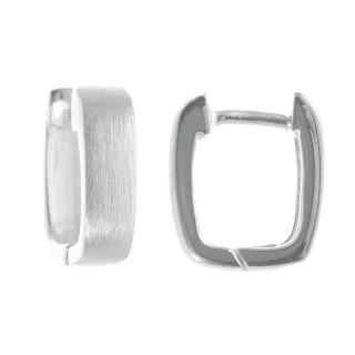 Ixio - Silber Creolen - mattiert/poliert