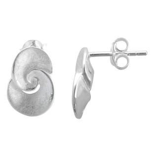 Trades - Silber Ohrringe plain - gebürstet/poliert
