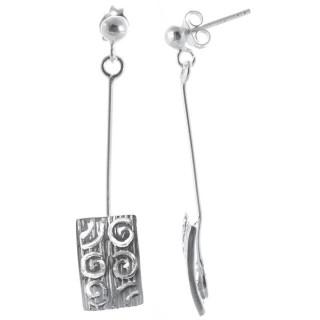 Edrai - Silber Ohrringe plain - poliert