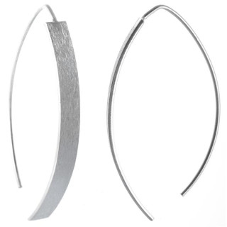 Cerato - Silber Ohrringe plain - mattiert