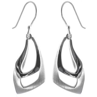 Dianthus - Silber Ohrringe plain - mattiert/poliert
