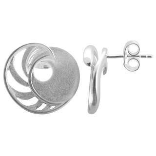 Xeranthem - Silber Ohrringe plain - gebürstet/poliert