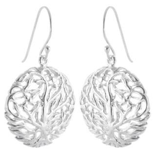 Plectran - Silber Ohrringe plain - poliert