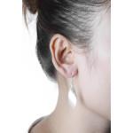 Gomphrena - Silber Ohrringe plain - mattiert/poliert