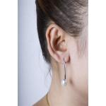 Maclea - Silber Perlenohrringe - poliert