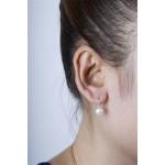 Leuco - Silber Perlenohrringe - poliert - 7 mm