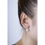 Leuco - Silber Perlenohrringe - poliert - 8 mm