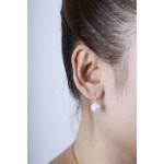 Leuco - Silber Perlenohrringe - poliert - 9 mm