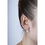 Crocus - Silber Perlenohrringe - poliert