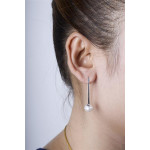 Callist - Silber Perlenohrringe - poliert