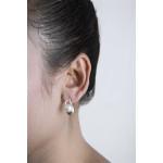 Euonymus - Silber Perlenohrringe - poliert