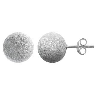 Wolke - Silber Ohrstecker plain - diamantiert