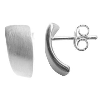 Atos - Silber Ohrstecker plain - mattiert/poliert
