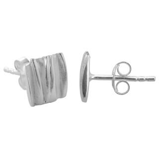 Consoli - Silber Ohrstecker plain - mattiert/poliert