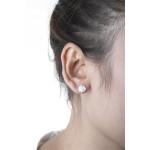 Ompha - Silber Ohrstecker plain - mattiert/poliert - 8 mm
