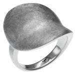 Rysop - Silberring plain - gebürstet/poliert