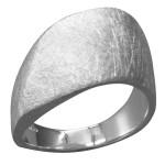 Aucuba - Silberring plain - gebürstet