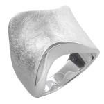 Ensete - Silberring plain - gebürstet