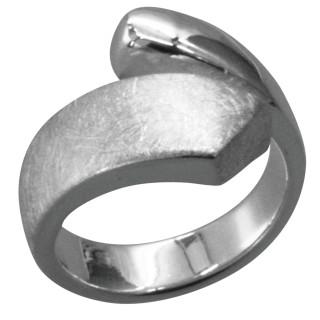 Sander - Silberring plain - gebürstet