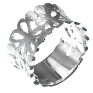 Erysim - Silberring plain - mattiert