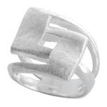 Haberl - Silberring plain - gebürstet/poliert
