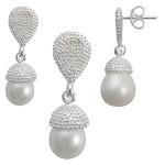 Melitti - Silber Set Perle - mattiert/poliert
