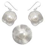 Vinca - Silber Set Perle - gebürstet/poliert