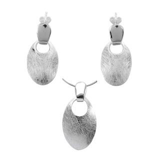 Pittosporn - Silber Set plain - gebürstet/poliert