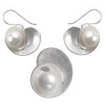 Onosma - Silber Set Perle - gebürstet/poliert