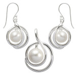 Antirrhin - Silber Set Perle - poliert
